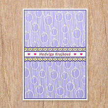 Papiernictvo - Linajková podložka do zošita Fruit lace (slivka) - 13465150_