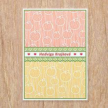 Papiernictvo - Linajková podložka do zošita Fruit lace (jablko) - 13465151_