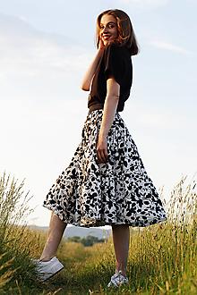 Sukne - Bavlnená sukňa kvet - 13466861_