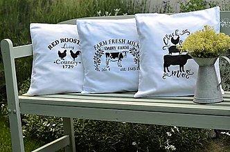 Úžitkový textil - Country poťahy na vankúš - 13466056_