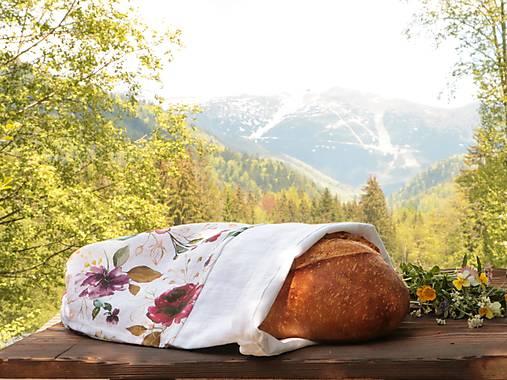 Ľanové vrecko na chlieb romance