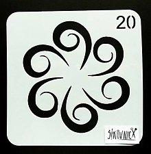 Pomôcky/Nástroje - Šablóna - 13x13 cm - mandala, ornament  (m13-20) - 13466824_