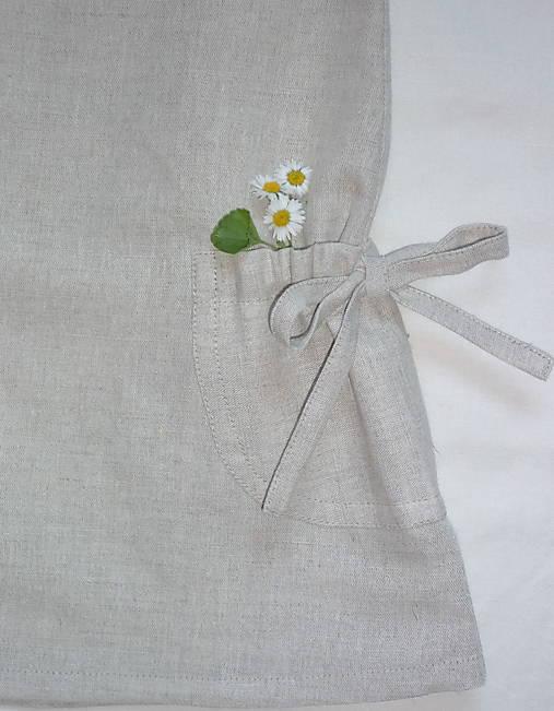 Šatočky ľan/bavlna a stiahnuté vrecká