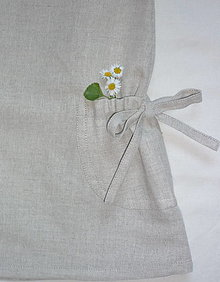 Detské oblečenie - Šatočky ľan/bavlna a stiahnuté vrecká - 13467604_