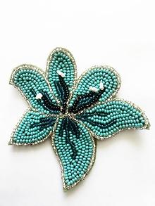 Brošne - korálkový kvet - 13467879_