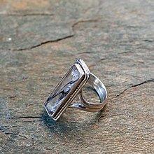 Prstene - Prsteň zo striebra - Škrt02 - 13467235_
