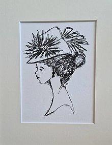 Kresby - Dáma v klobúku 1 - 13466194_