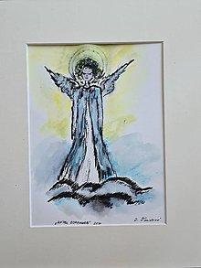 Kresby - Anjel ochranca - 13466763_