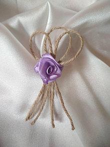 Pierka - vintage pierko-fialová ružička - 13467925_