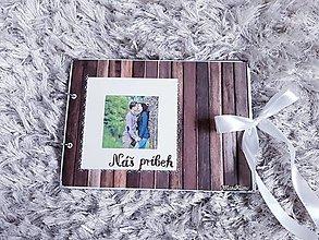 Papiernictvo - Nielen na Valentína (Náš príbeh drevený podklad) - 13468120_