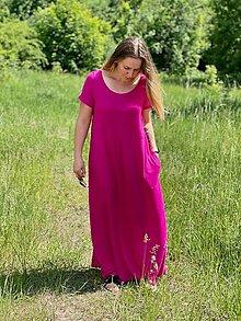 Šaty - Bambusové dlouhé šaty - 13466257_