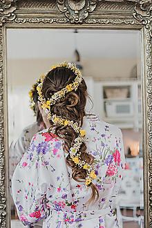 """Ozdoby do vlasov - Kvetinový pletenec """"slnkom zaliate ráno"""" - 13468397_"""