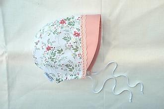 Detské čiapky - čepček lúčne kvety - 13465963_