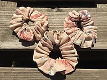 """Ozdoby do vlasov - gumička """"scrunchie"""" ľanová 2 - 13466016_"""