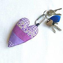 Kľúčenky - Prívesok na kľúč Maxi fialový - 13467265_