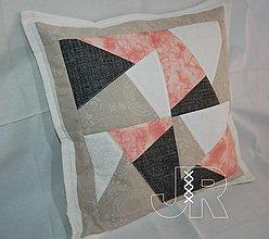 Úžitkový textil - vankúš mramor - 13466751_