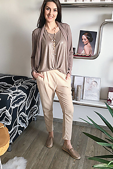 Nohavice - Pohodové kockované nohavice - 13466102_