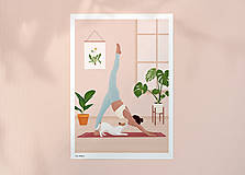 Grafika - Cvičení se psem - umělecký tisk - 13469336_