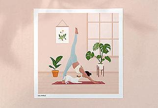 Grafika - Cvičení se psem - umělecký tisk - 13469337_
