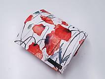 Peňaženky - Peňaženka maky ekokoža - 13468693_