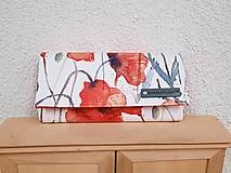 Peňaženky - Peňaženka maky ekokoža - 13468694_