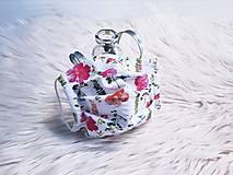 Rúška - Rúško na tvár dámske lúčne kvety harmonika - 13469286_