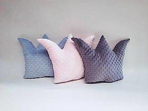 Textil - Minky vankúšik korunka - 13468605_