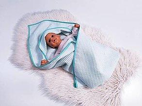 Textil - Vafľová osuška so strieškou - 13468612_