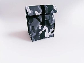 Iné tašky - Desiatnik sivo-biely maskáč - 13468653_