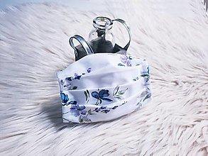 Rúška - Rúško na tvár dámske fialky harmonika - 13469304_