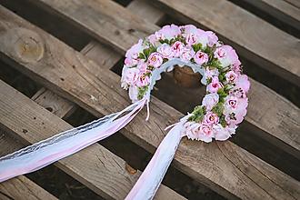 Ozdoby do vlasov - Kvetinová svadobná parta - 13468481_
