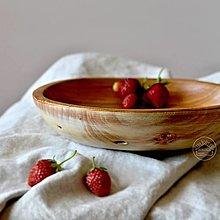 Nádoby - Drevená čerešňová miska patinovaná Ø23/5 - 13470355_