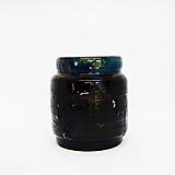 Dekorácie - Čierno-modrá váza - 13470216_