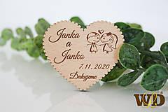 Darčeky pre svadobčanov - Svadobné magnetky - 13471255_