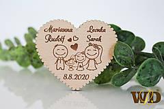 Darčeky pre svadobčanov - Svadobné magnetky Rodinka 4 - 13471259_