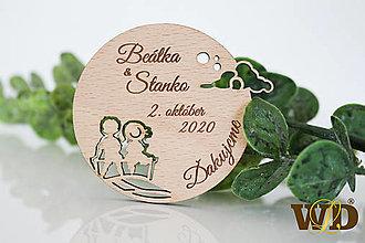 Darčeky pre svadobčanov - Magnetky Mesačný úsvit - 13471242_