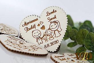 Darčeky pre svadobčanov - Svadobné magnetky Rodinka 4 - 13471249_