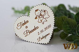 Darčeky pre svadobčanov - Svadobné magnetky - 13471252_