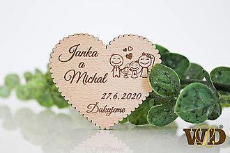 Darčeky pre svadobčanov - Svadobné magnetky Rodinka 4 - 13471256_