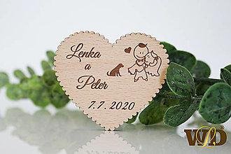 Darčeky pre svadobčanov - Svadobné magnetky - 13471257_
