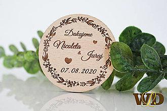Darčeky pre svadobčanov - Svadobné magnetky - 13471262_