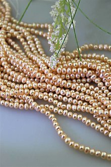 Minerály - perly 4mm-5mm korálky(pravá perla) - 13470101_