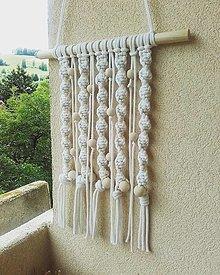 Dekorácie - MACRAME zavesna dekoracia natur - 13469863_