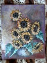 Obrazy - Poľné kvieťa, slnečnice - 13469818_
