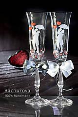 Nádoby - Svadobné poháre - 13470782_