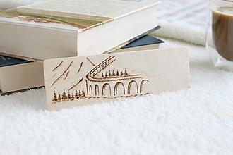 """Papiernictvo - Drevená záložka do knihy """"Viadukt"""" - 13470137_"""