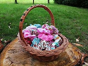 Detské doplnky - Látkové gumičky - scrunchies - 13468500_