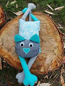 Hračky - Lenivá mačička (Morris) - 13468511_