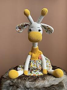 Hračky - žirafka Ninka - v žltom - 13470728_