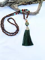 Japa Mala náhrdelník/zelený strapec